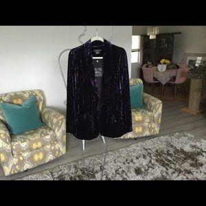 Jackets & Blazers - Royal purple velvet blazer